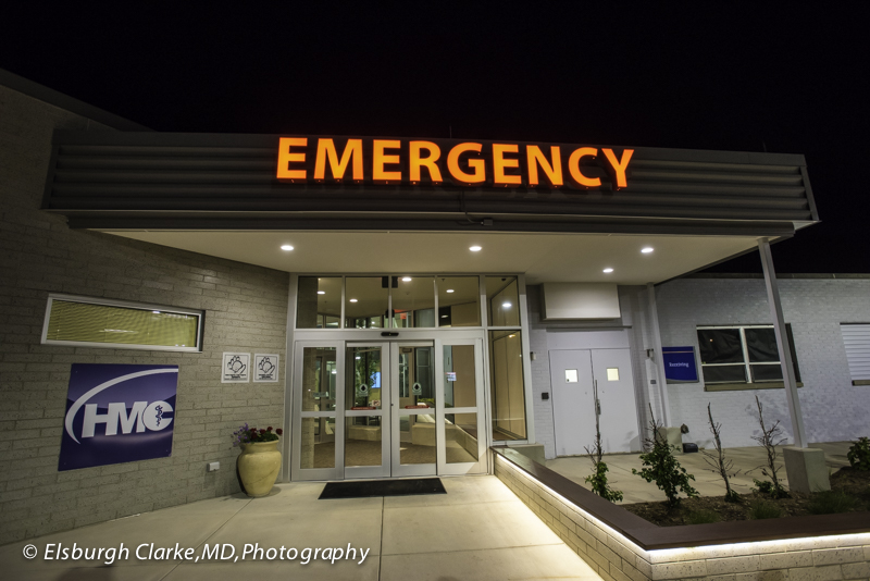 Patient entrance to Emergency Services