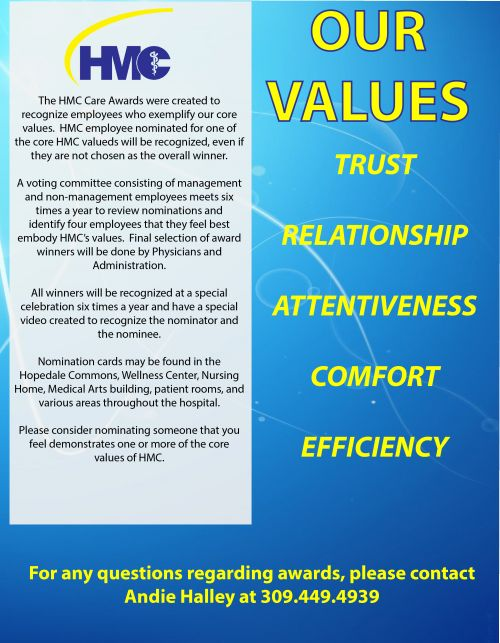 Our Values: Trust, Relationship, Attentiveness, Comfort, Efficiency.
