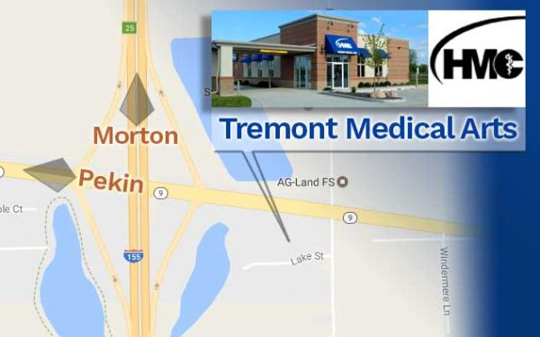 Map view of Tremont Medical Arts Center - near Pekin and Morton, IL
